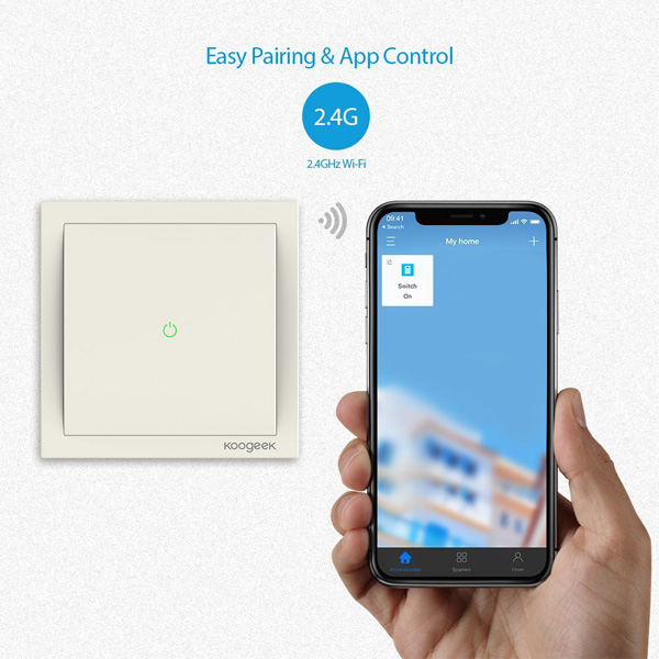 One-way Single Pole Smart Light Switch