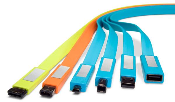 LaCie Flat Cables colorati