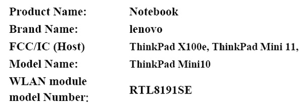 Lenovo ThinkPad Mini 11