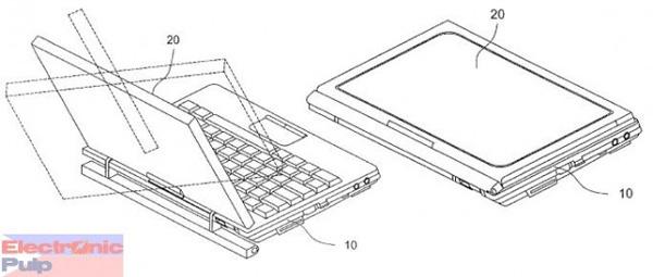 Brevetto per netbook tablet convertibile di LG
