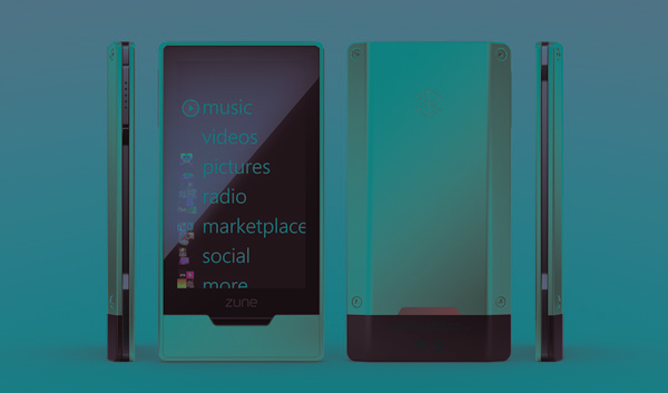 Microsoft Zune HD music player