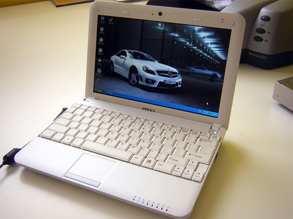 Design del netbook MSI