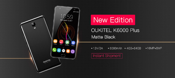 Oukitel K6000 Plus Black Matte Edition