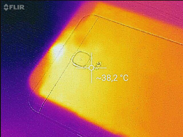 Temperature rilevate dalla nostra camera termica