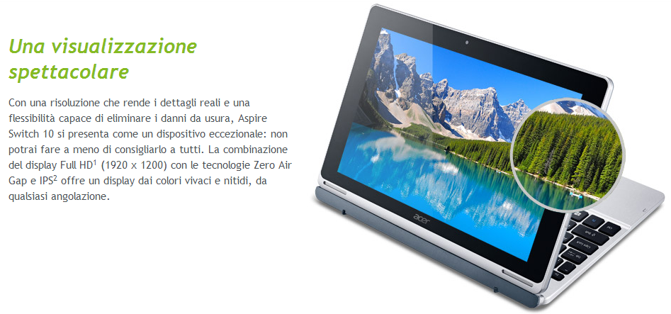 Acer Switch 10 con display Full HD