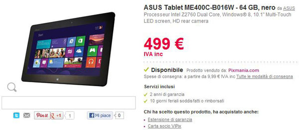 ASUS Vivo Tab Smart in Italia