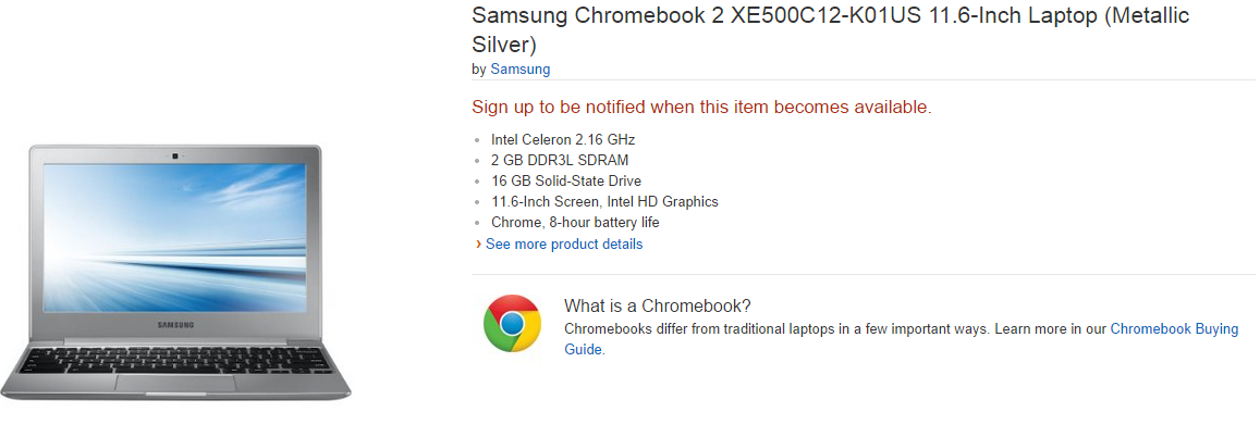Samsung Chromebook 2 con Bay Trail