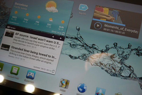 Samsung Galaxy Tab 2 10.1 display
