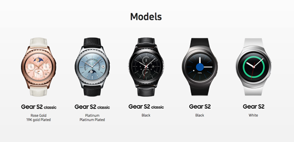 Samsung Gear S2 Premium Rose Gold e Platinum