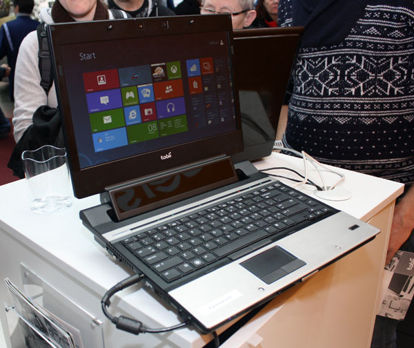L'eye tracking di Tobii e un notebook Windows 8