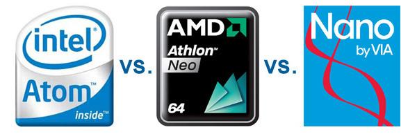 Test comparativi dei processori Intel Atom, AMD Neo, VIA Nano