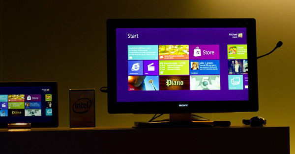 Windows 8 su AIO Intel