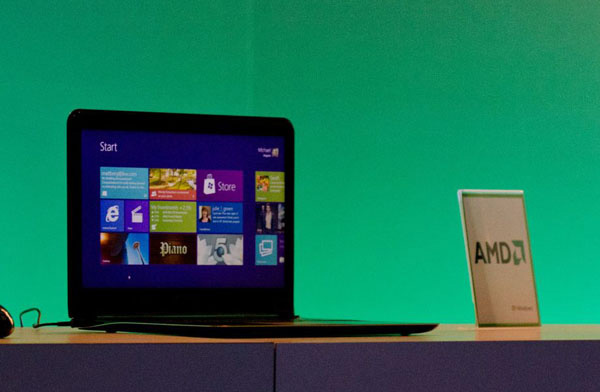 Windows 8 su notebook AMD