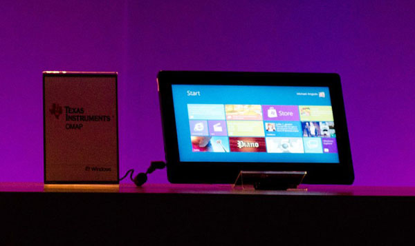 Windows 8 su tablet Texas Instrumets